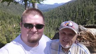Ernie and Matthew Singer on Greyback pass in California, 6-16-2013.